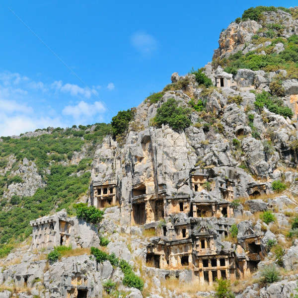 lycian tombs in Demre (Myra), Turkey Stock photo © alinamd