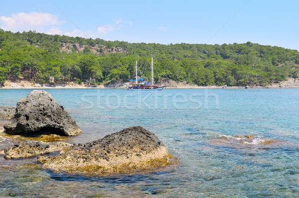 beautiful seascape and pleasure boat Stock photo © alinamd