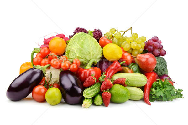 vegetables and fruits isolated on white background Stock photo © alinamd