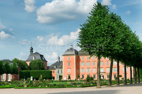 an old castle and the magnificent park Stock photo © alinamd