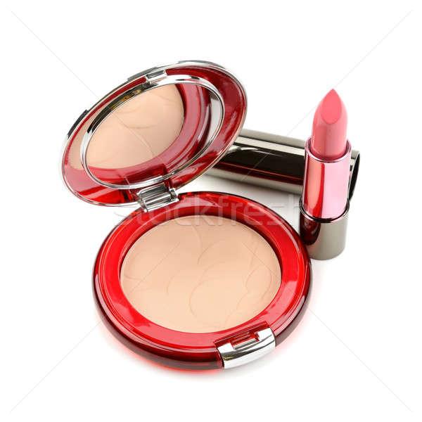 lipstick and compact powder Stock photo © alinamd