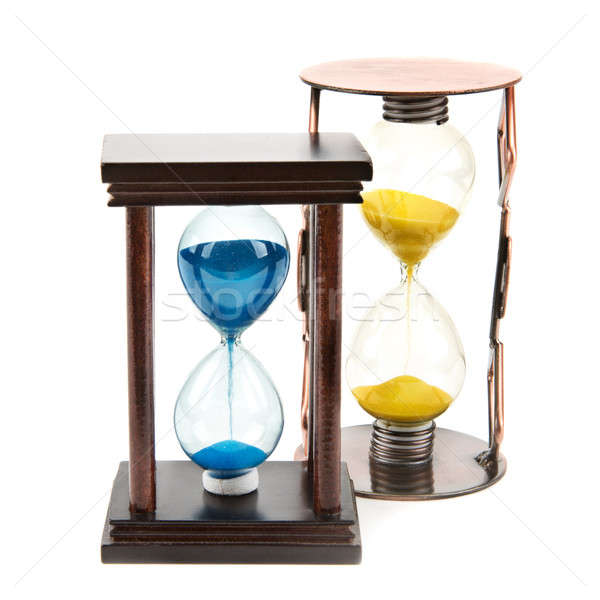Hourglass, sandglass, sand clock on white background Stock photo © alinamd