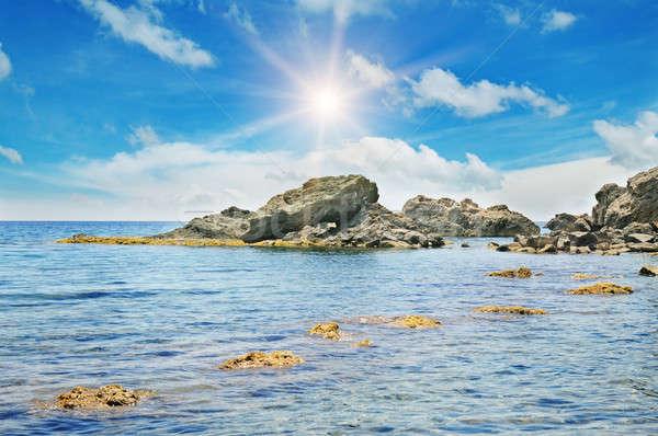 scenic sea shore and blue sky Stock photo © alinamd