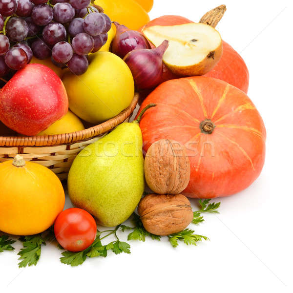 fruits and vegetables isolated on a white background Stock photo © alinamd