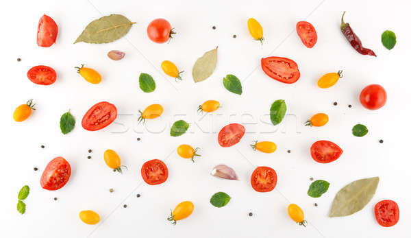 Vegetable pattern. Food background.Flat lay. Stock photo © alinamd