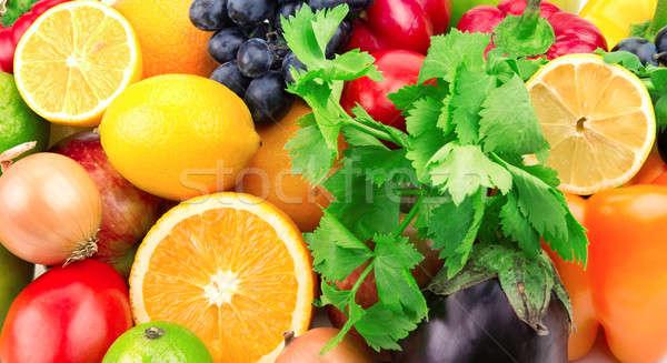 fresh fruits and vegetables Stock photo © alinamd