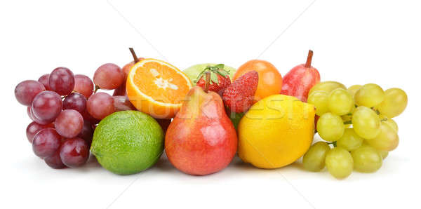 Photo stock: Fruits · isolé · blanche · alimentaire · nature