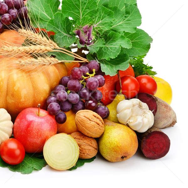 Foto stock: Frutas · legumes · isolado · branco · comida · fruto
