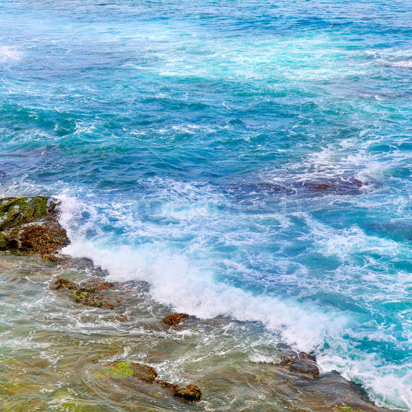 background of ocean waters and coastal stones Stock photo © alinamd