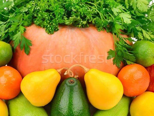 Parlak meyve sebze gıda bahçe arka plan Stok fotoğraf © alinamd