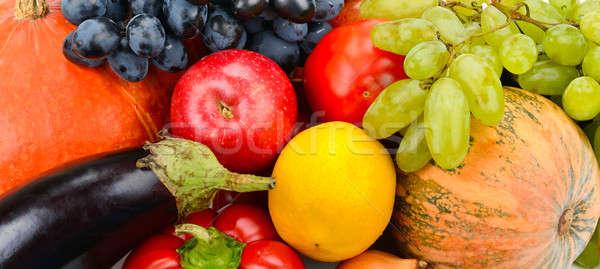 Jasne owoce warzyw żywności owoców tle Zdjęcia stock © alinamd