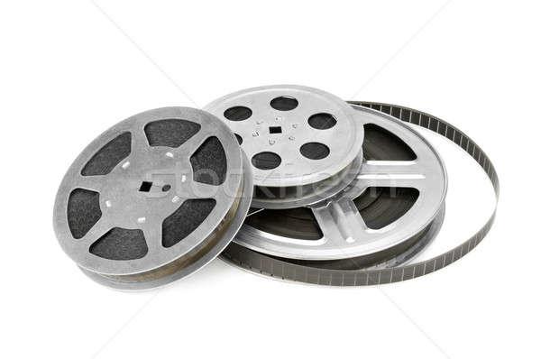 Taśmy filmowej odizolowany biały film ramki film Zdjęcia stock © alinamd