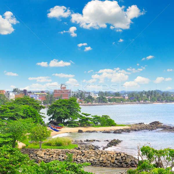 Haven stad oceaan Sri Lanka strand water Stockfoto © alinamd