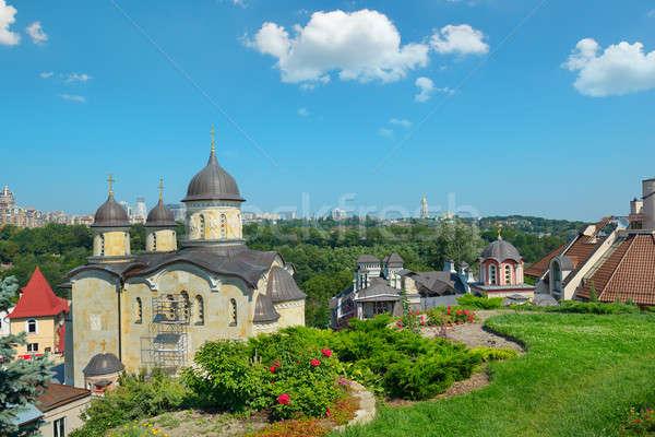 Ortodoxo igreja distrito edifício cidade natureza Foto stock © alinamd