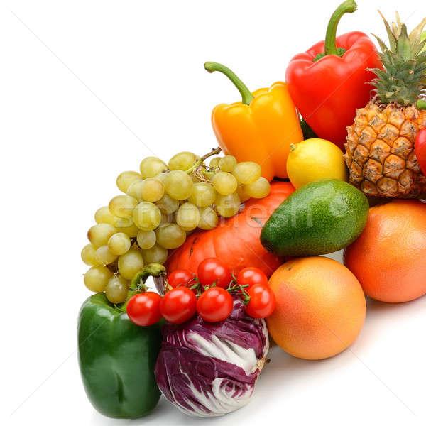 Vruchten plantaardige geïsoleerd witte achtergrond vruchten Stockfoto © alinamd