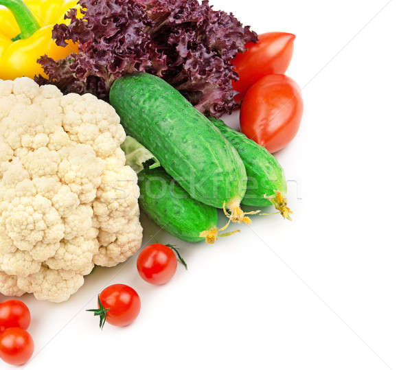 set of fresh vegetables Stock photo © alinamd