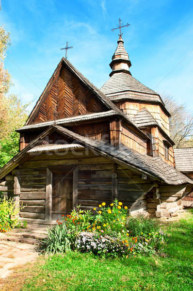 old wooden church  Stock photo © alinamd