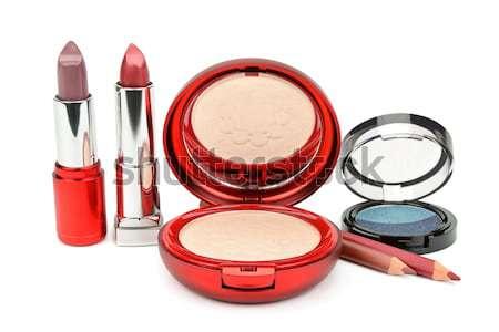 makeup set isolated on white background. Stock photo © alinamd