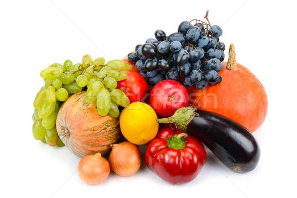 Gyümölcsök zöldségek izolált fehér étel alma Stock fotó © alinamd