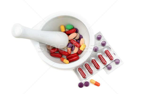 таблетки изолированный белый медицинской здоровья медицина Сток-фото © alinamd