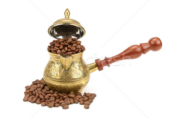 coffee pot and coffee beans Stock photo © alinamd