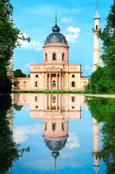 мечети Blue Sky здании зеленый Церкви облаке Сток-фото © alinamd
