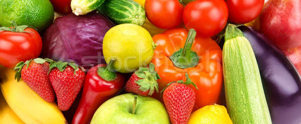 bright background of different fruits and vegetables Stock photo © alinamd