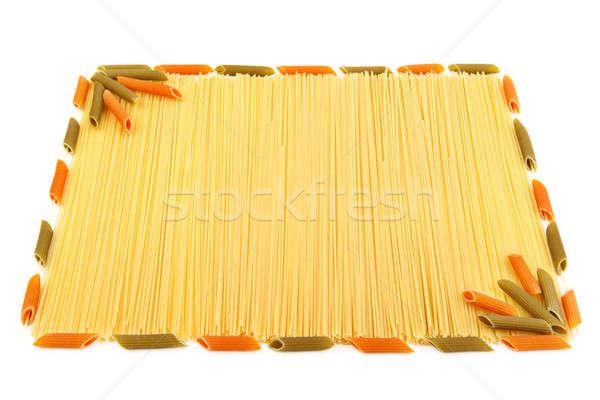 set of pasta isolated on white background Stock photo © alinamd