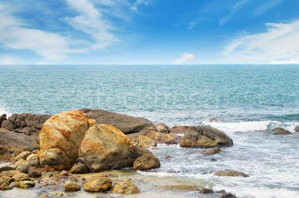 海 絵のように美しい ビーチ 青空 水 海 ストックフォト © alinamd