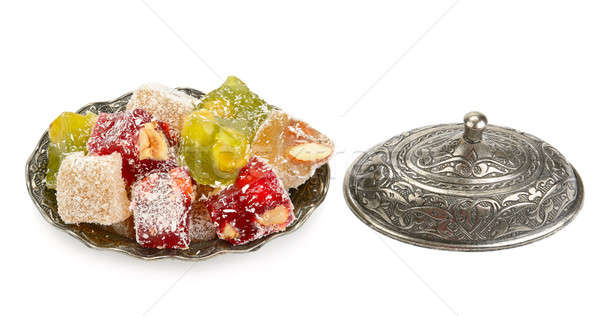 Turkish Delight in a candy isolated on white background Stock photo © alinamd
