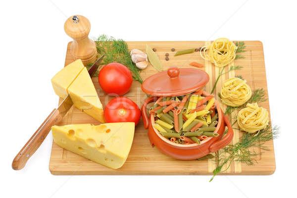 Stock fotó: Természetes · termékek · izolált · fehér · étel · egészség