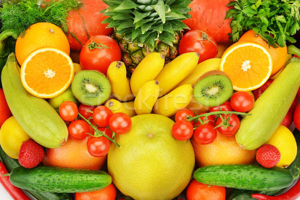 background of different fruits and vegetables Stock photo © alinamd