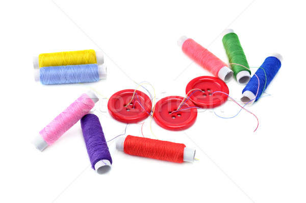 sewing thread and buttons isolated on white background Stock photo © alinamd
