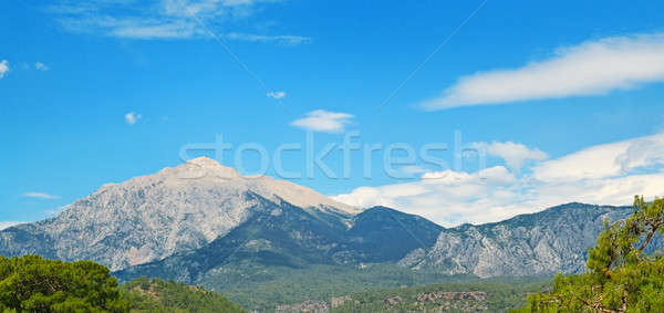The top of the mountain Olympos (Turkey) against the blue sky Stock photo © alinamd