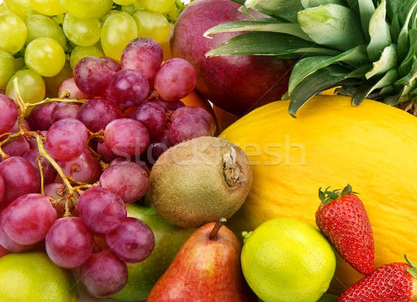 Multicolored background of fruits and berries Stock photo © alinamd