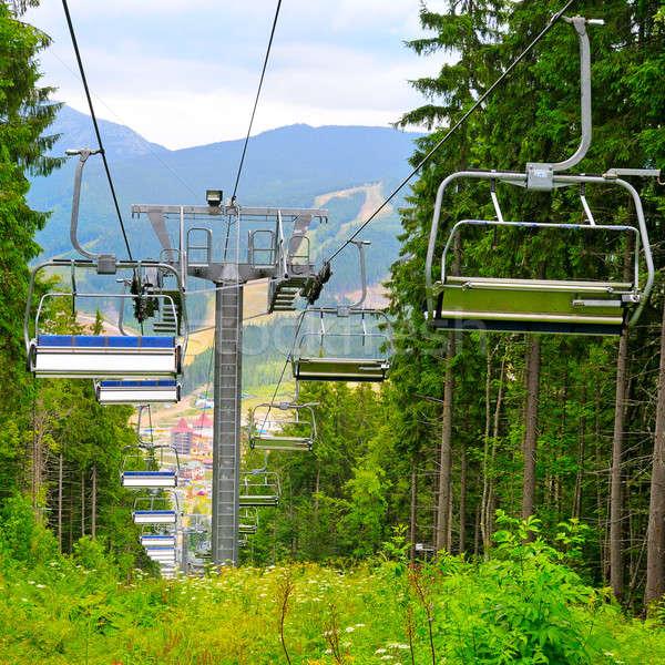 ski lift in the mountains Stock photo © alinamd