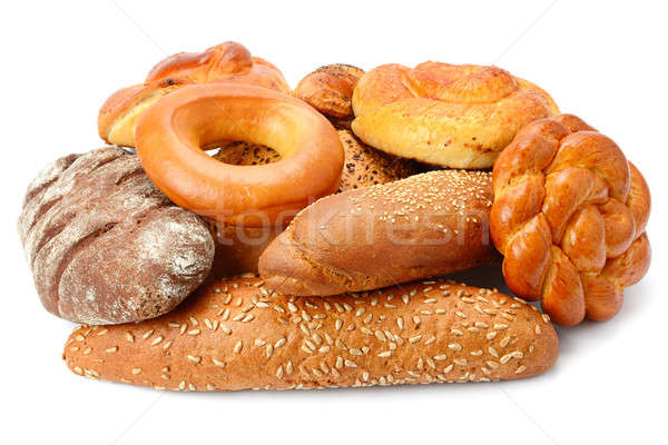bread and bakery products isolated on white background Stock photo © alinamd