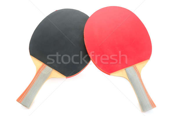 racquet to play ping-pong isolated on white background Stock photo © alinamd