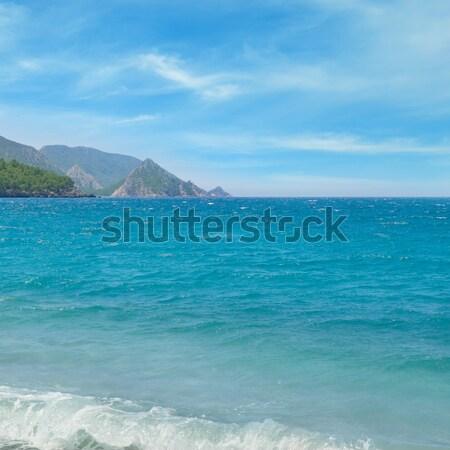 seascape, blue sky and mountainous coast Stock photo © alinamd
