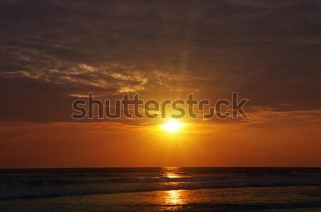 Heldere zonsopgang oceaan water voorjaar zon Stockfoto © alinamd