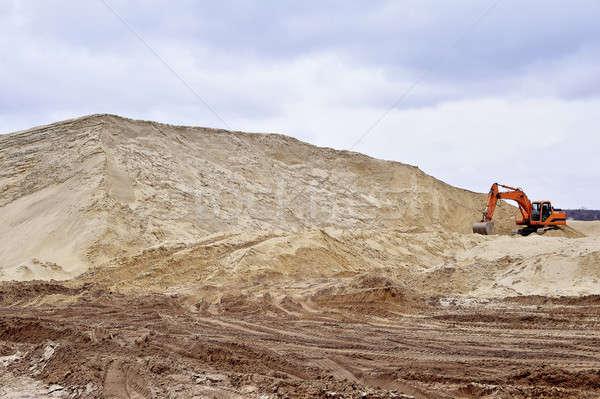 Werken zand water bouw werk technologie Stockfoto © AlisLuch