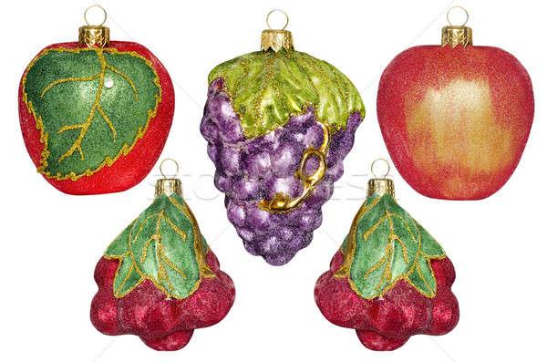 Noel süslemeleri form meyve beyaz yalıtılmış Stok fotoğraf © AlisLuch