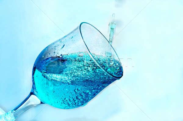 Сток-фото: воды · стекла · прозрачный · синий · жидкость · Cool