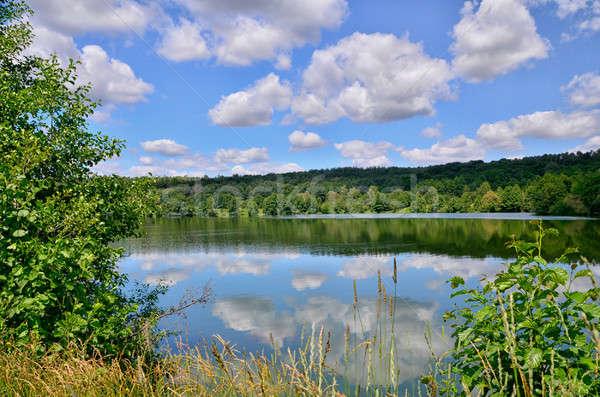 夏 風景 川 低い 雲 ストックフォト © AlisLuch