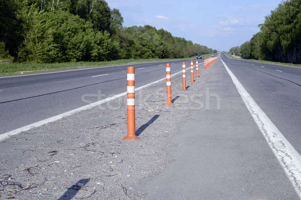 Asphalt road with markings Stock photo © AlisLuch
