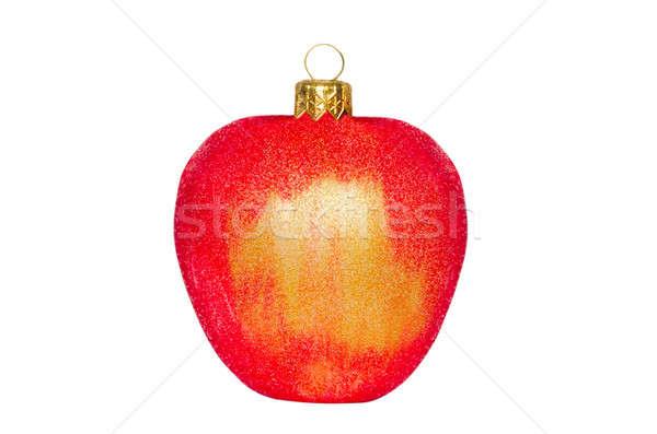 Foto d'archivio: Natale · giocattolo · mela · bianco · isolato · albero