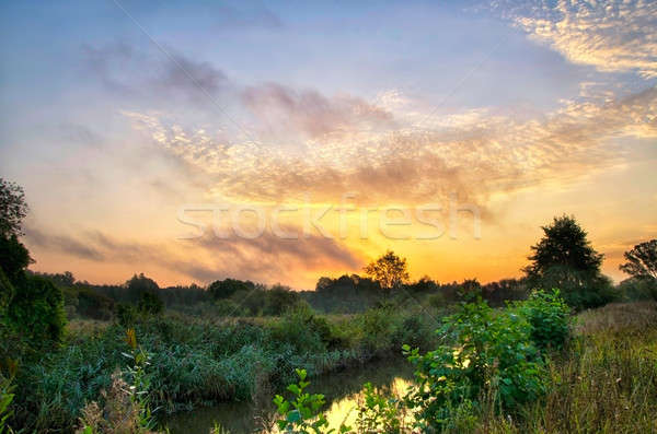 Восход реке красивой облака лет Сток-фото © AlisLuch