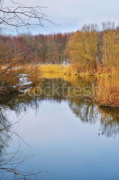 весны пейзаж реке небе воды природы Сток-фото © AlisLuch