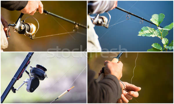 Collage on the theme of fishing Stock photo © AlisLuch
