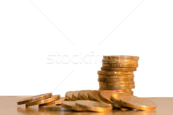 Madeni para beyaz iş para arka plan Stok fotoğraf © AlisLuch